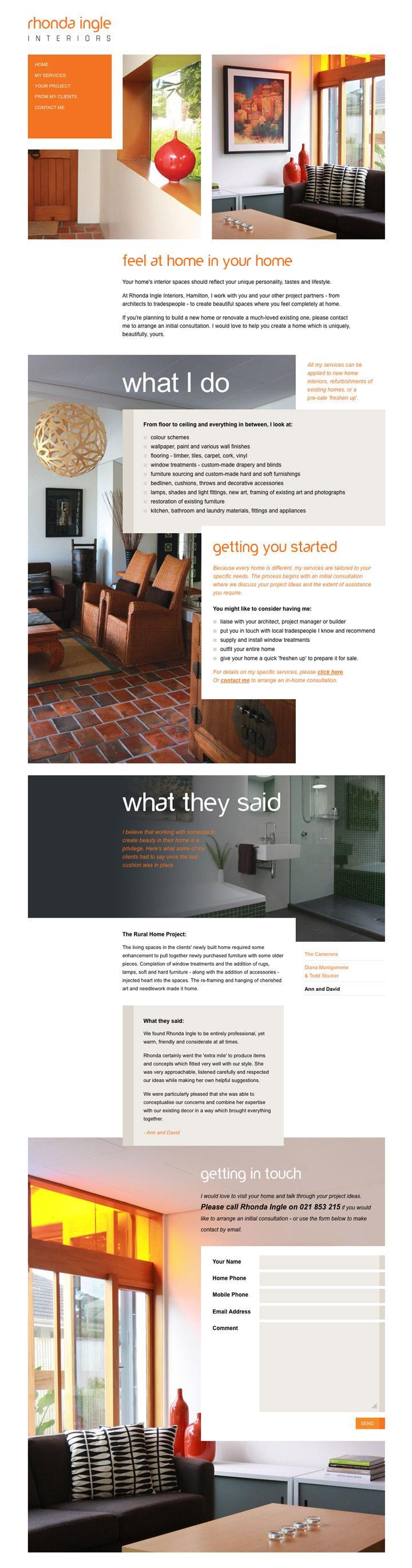 BENEK // Rhonda Ingle Interiors // Web Design