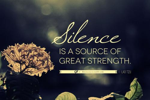 For you & you & you » Don't automatically take silence to mean...