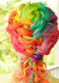 make hair colorful - StyleCraze