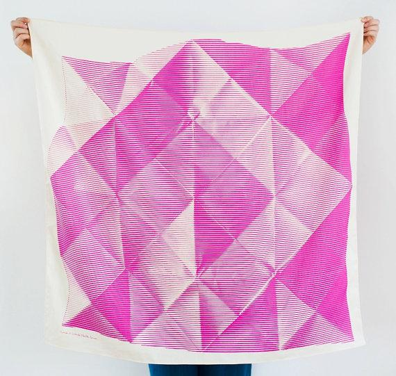 Folded Paper Furoshiki Pink Furoshiki by thelinkcollective on Etsy
