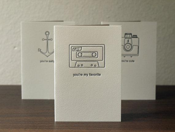 Letterpress Greeting Cards Set of Three by PRINTandGRAIN on Etsy