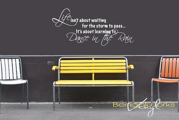 Wall Decal Quote Life is Learning to Dance in The by BengalWorks