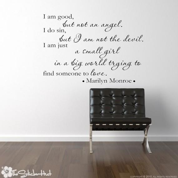 I am good but not an angel Marilyn Monroe Quote by thestickerhut