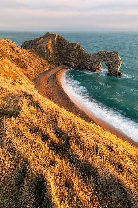 Blue Pueblo, Coastal View, Dorset, England photo via jobs