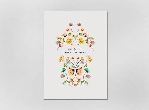 Design Work Life » Lisa Hedge: Sarah & Scott Wedding Annoucement