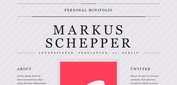 Personal mini portfolio website template (Free PSD) by duckfiles - Designmoo