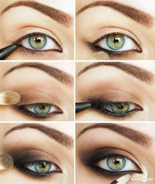wear eye makeup with brush and liners - StyleCraze