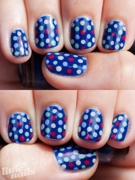 blue dot nails - StyleCraze