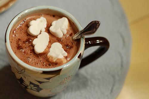 chocolate, food, hot chocolate, marshmallow - inspiring picture on Favim.com