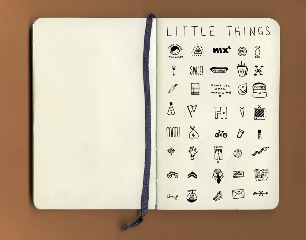 Things Organized Neatly: SUBMISSION: Little Things: 40 dime-sized drawings...
