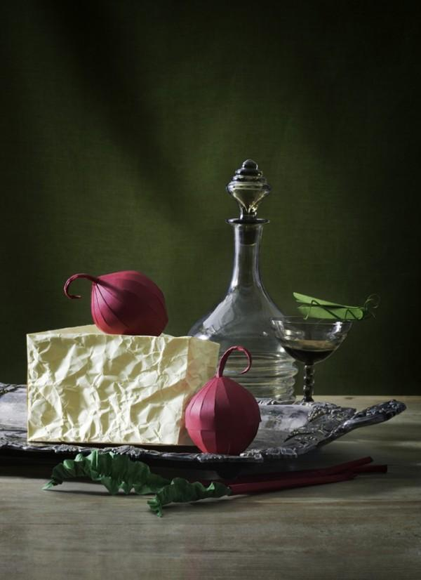 Fideli Sundqvist's Papercraft Food in Still Life | Trendland: Fashion Blog & Trend Magazine