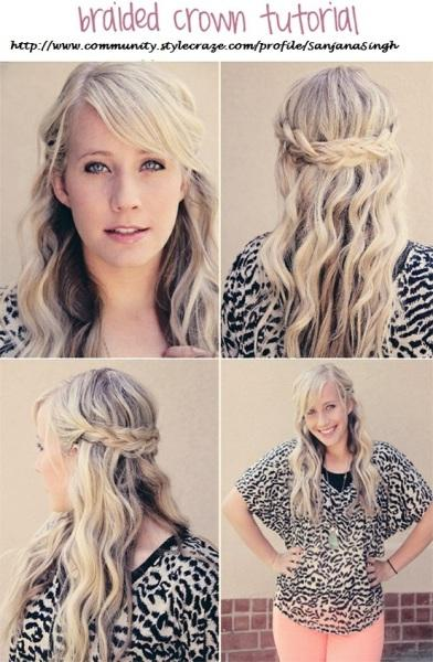 curly braided hairstyle - StyleCraze
