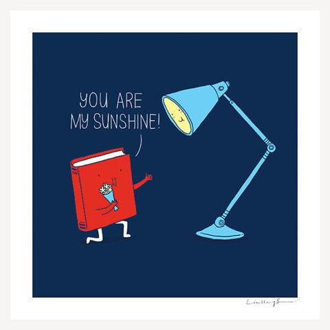 You are my sunshine art print by ilovedoodle on Etsy
