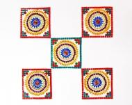 Big Square Rangoli by kundan bead rangolis at itshandmade.in - 3mik.com