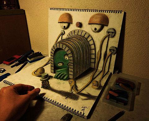 Brilliant 3D pencil drawings by Nagai Hideyuki — Lost At E Minor: For creative people