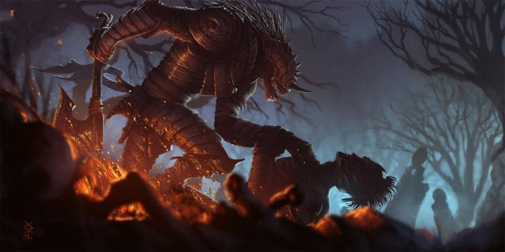 Fantasy: Fall of a hero - 2D Digital, Concept art, Fantasy, Photoshop