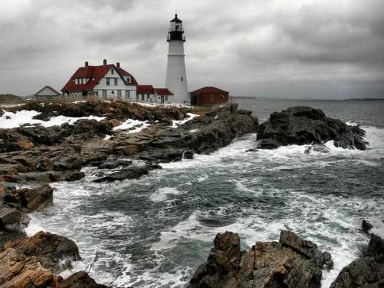 Castles and Lighthouses aka dream homes ;) / Ahhhh all I need is a yellow rain coat!