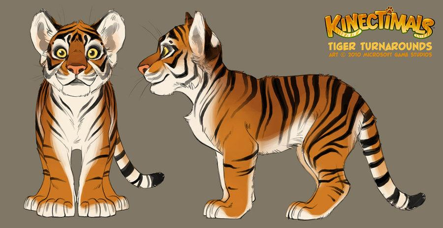 Kinectimals tiger turnarounds by *shoomlah
