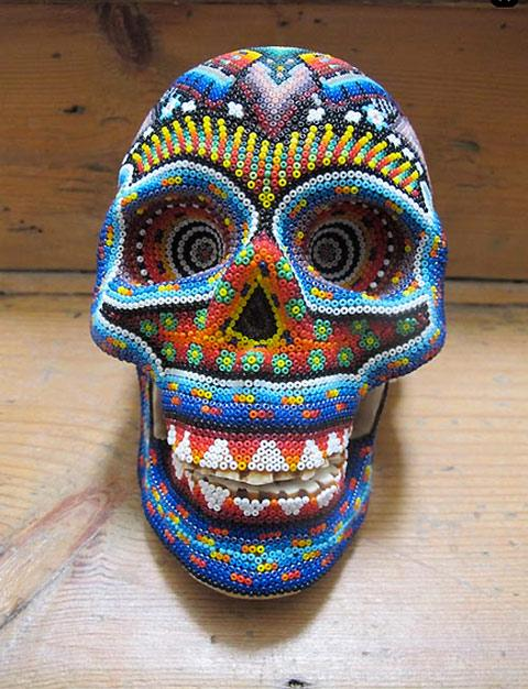 Beaded skull art by Our exQuisite Corpse — Lost At E Minor: For creative people
