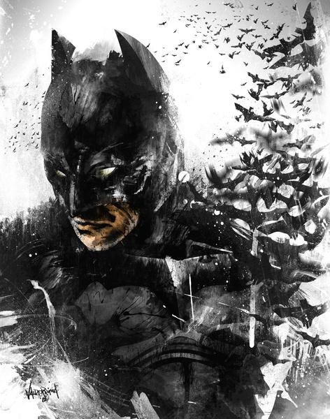 The Dark Knight Rises... So Does His Bats. Art Print by Fresh Doodle - JP Valderrama | Society6