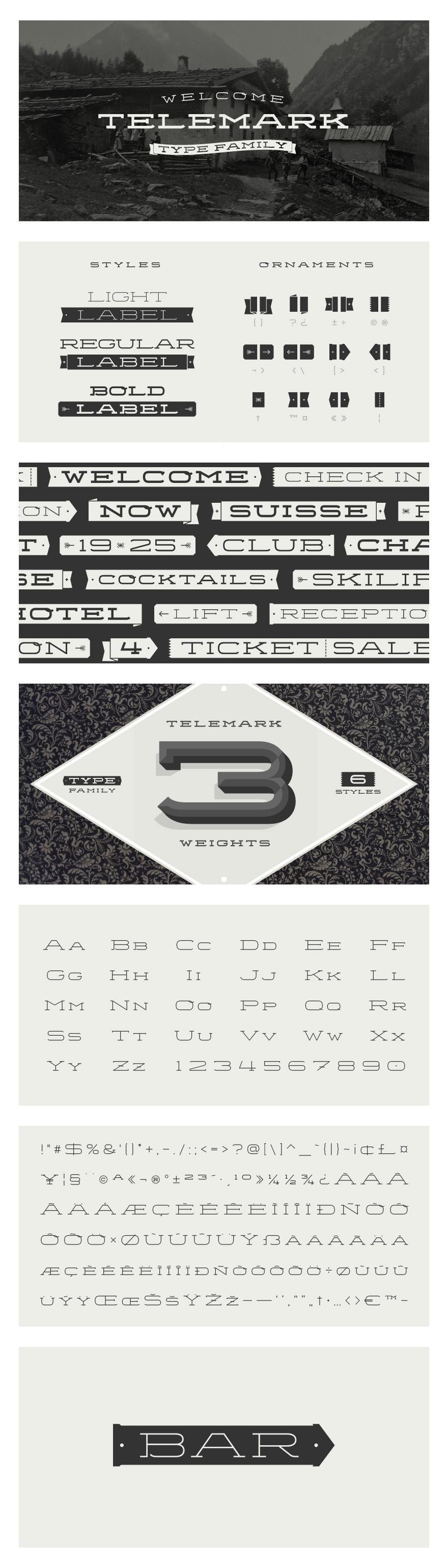 Telemark Type Family - Typography - Creattica