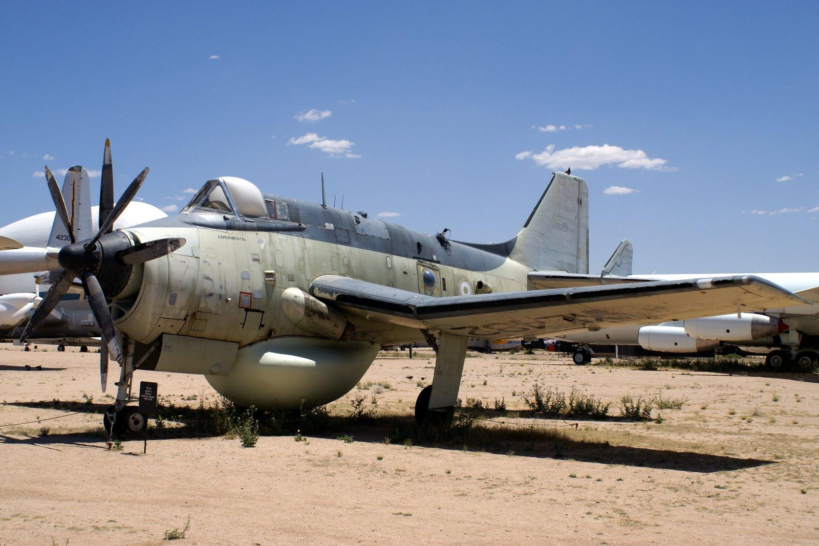 STRANGE MILITARY AIRCRAFT - FAIREY GANNET AEW.3 ROYAL NAVY AIRBORNE RADAR PLANE