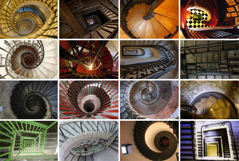 16 Spectacular Spiral Staircases as Seen from Above | Designs & Ideas on Dornob