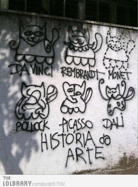 Art History Graffiti | The Lolbrary - New Funny Random Pictures Added Daily