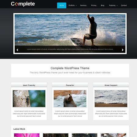 Complete Free Business & Portfolio WordPress Theme