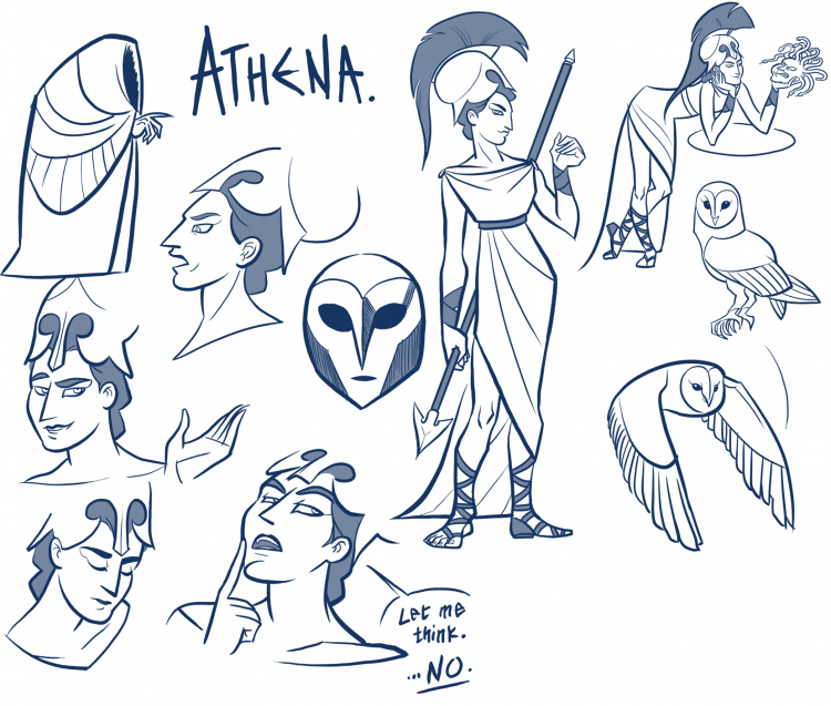Concept Design: P&A: Athena // Dylan Meconis