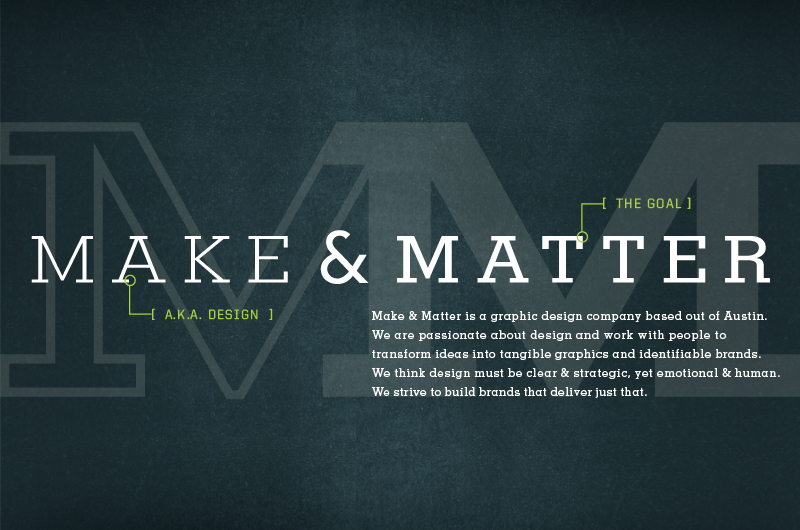 Make & Matter