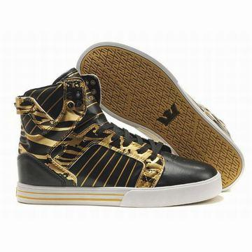 black gold white supra skytop men sneakers online cheap