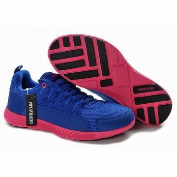 royal blue and pink men supra owen run men sneakers