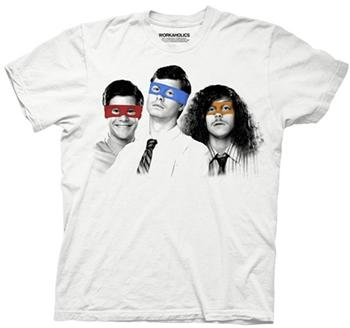 Workaholics Shirts - Workaholics Three Ninjas T-Shirt by Animation Shops