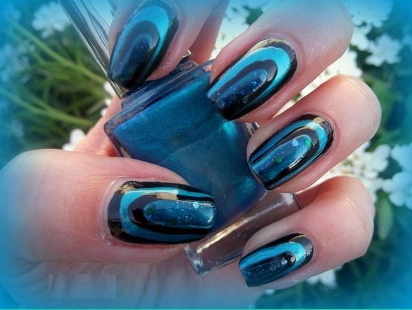 peacock nails - StyleCraze