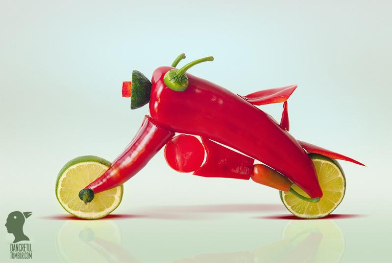 Dan Cretu Transforms Food into Playful Everyday Objects   inspirationfeed.com