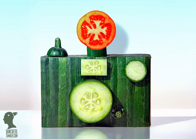 Dan Cretu Transforms Food into Playful Everyday Objects | inspirationfeed.com