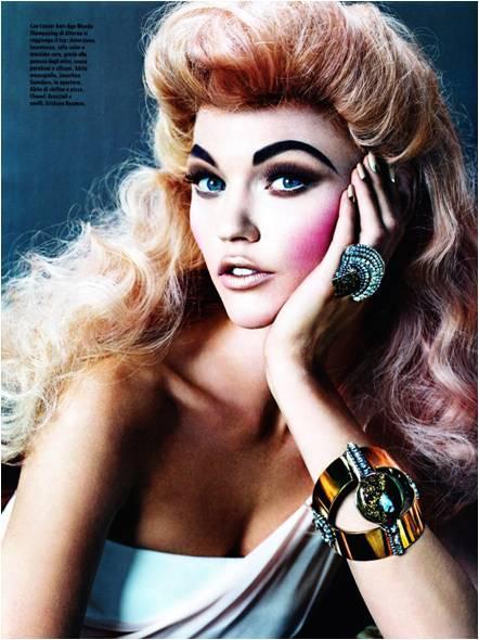 Sasha Pivovarova for Vogue Italy May 2010 issue