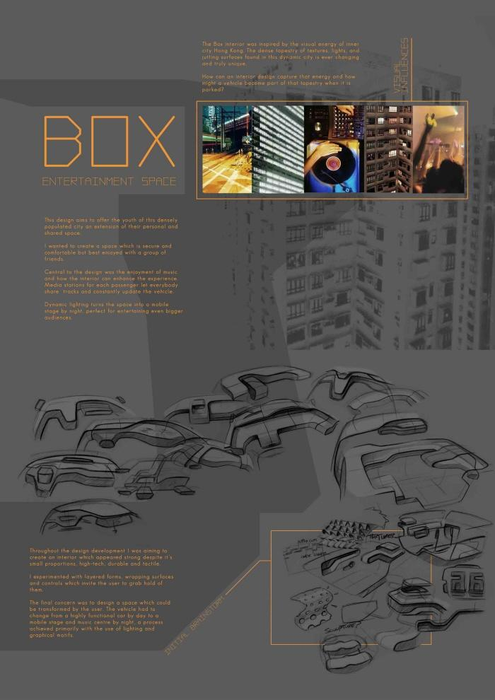 Box - Interior inspired by Hong Kong - personal project by Adam Kerr Phillips at Coroflot.com
