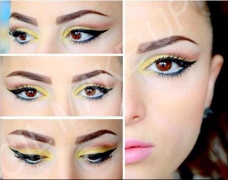 yellow shadow eye makeup - StyleCraze