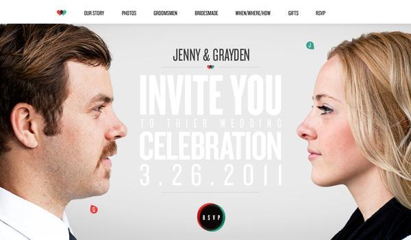 Site de mariage sur la conception Web Servi