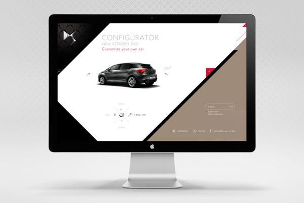 Citroën DS 2011 Visuels sur la conception Web Servi