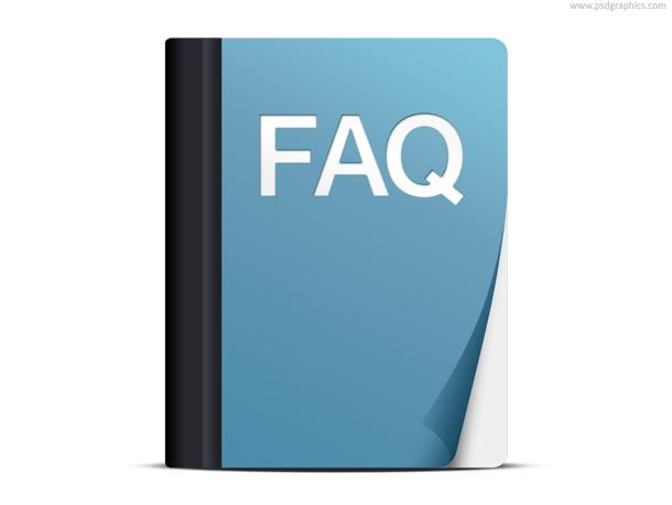 FAQ icon (PSD) | PSDGraphics