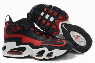 nike griffey max 1 black white and red for womens