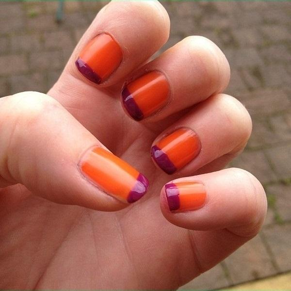 juicy orange nail art - StyleCraze