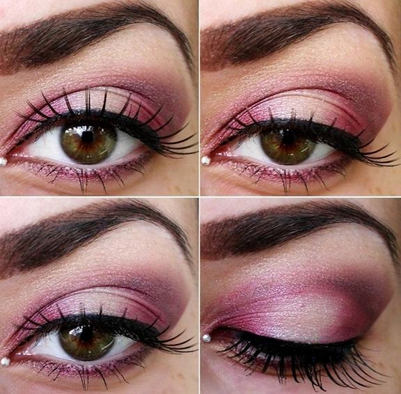 RED AND WHITE EYE MAKEUP - StyleCraze