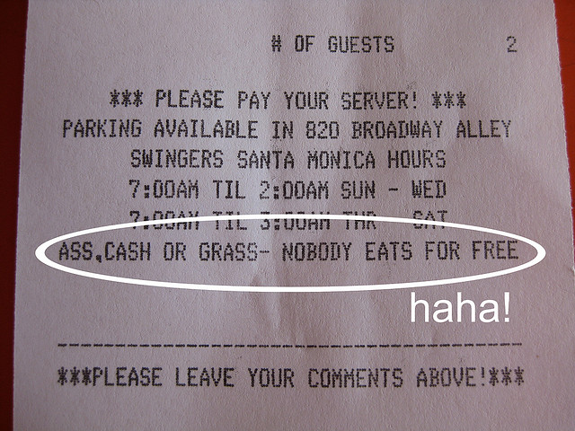 Funny Swingers Receipt | Flickr - Photo Sharing!