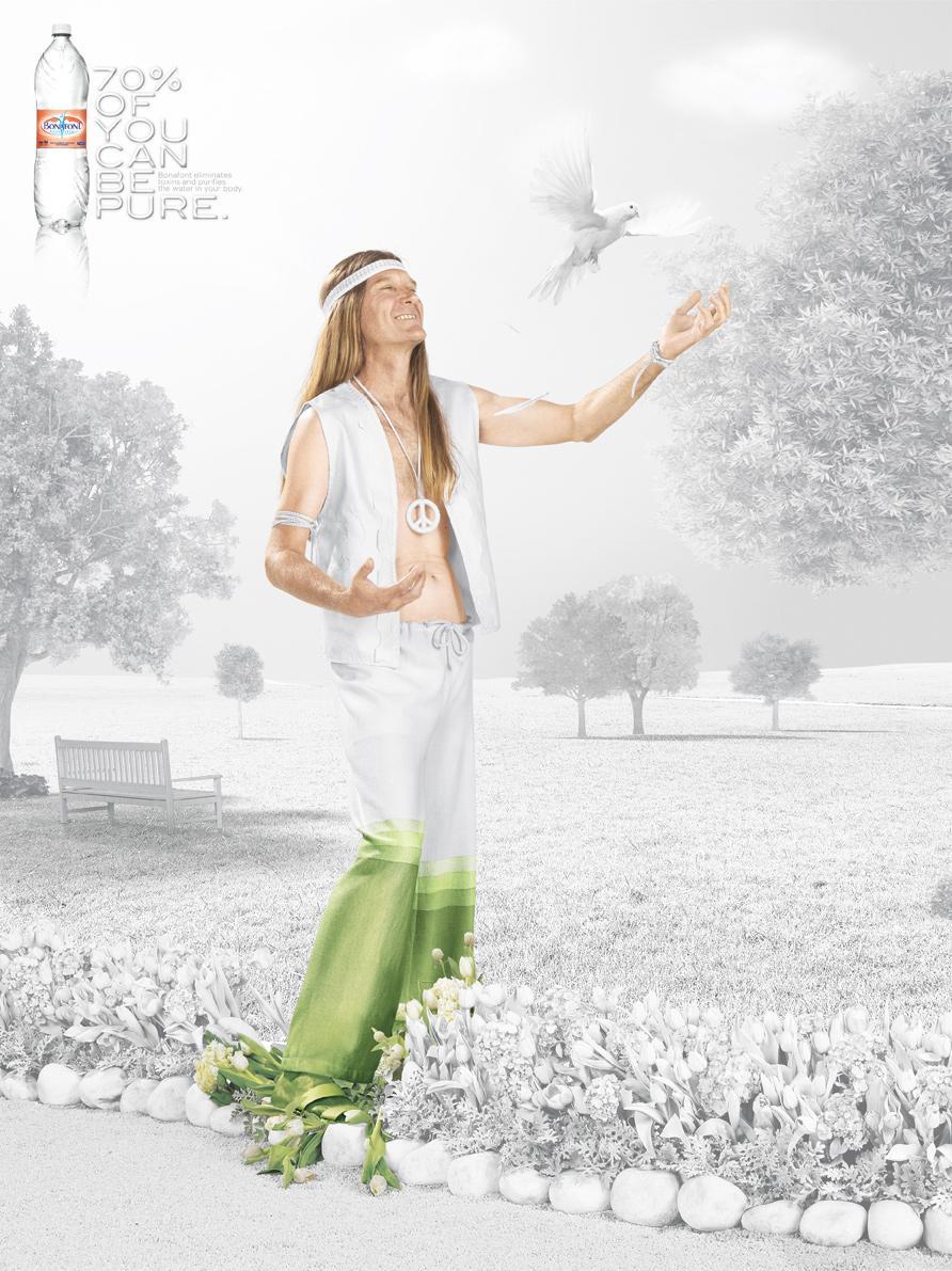 Danone Bonafont: 70%, Hippie | Annonces du Monde ™