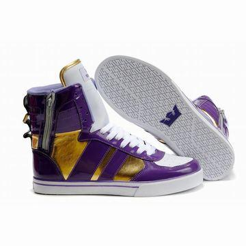 white purple gold 2011 new supra skytop high sneakers women,supra skytop 2011 ladies