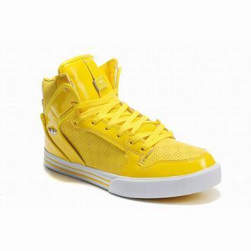 yellow white supra vaider high tops perf men shoes,supra vaider yellow white perf for sale